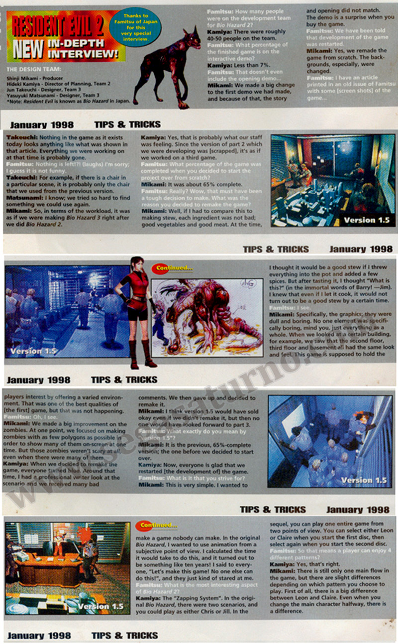 Resident Evil 2 beta 1.5 unreleased scan famitsu