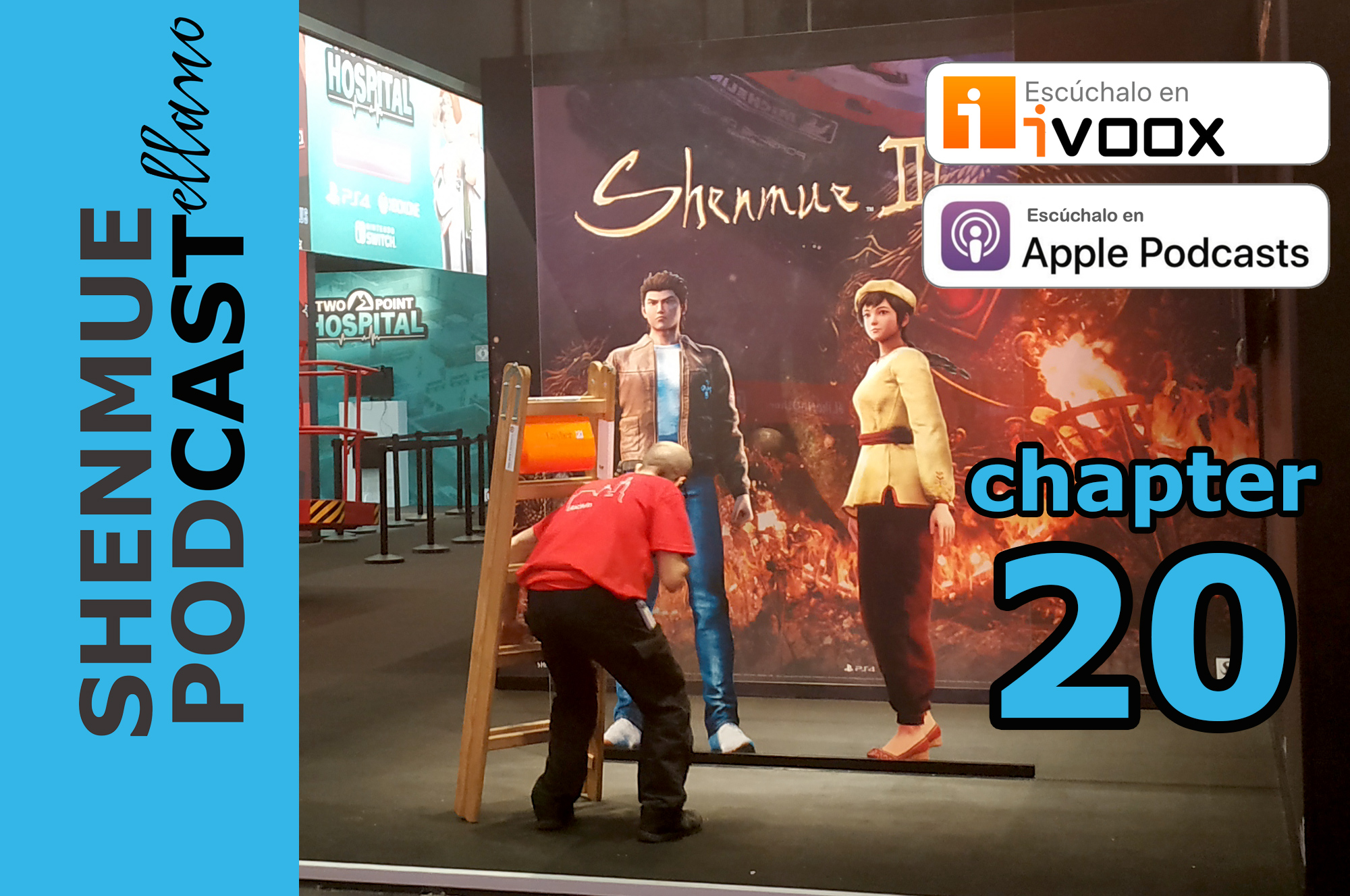 shenmue 3 GAMESCOM 2019 DEEP SILVER BOOTH SHENMUE PODCAST PODCASTELLANO corey marshall actor