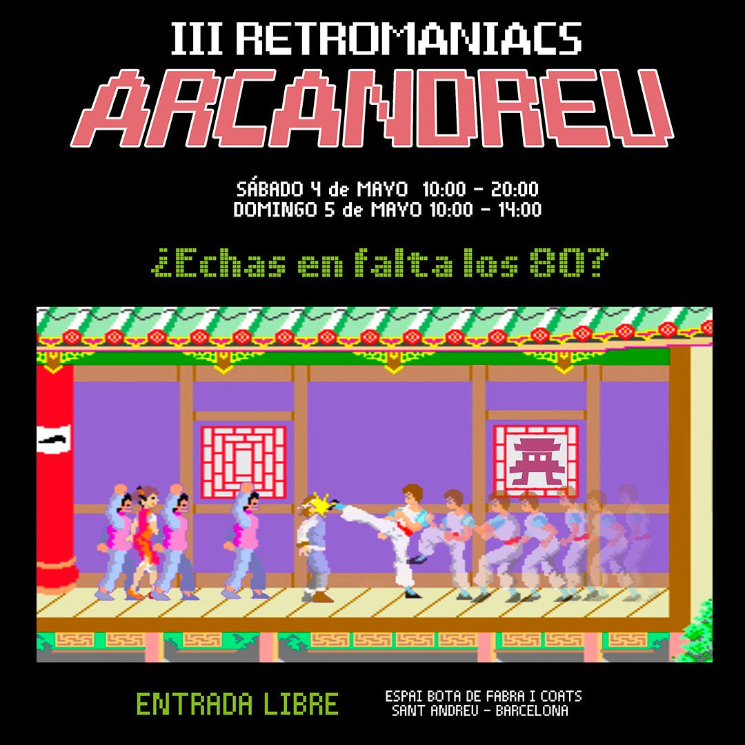 ARCANDREU RETROMANIACS.ES SANT ANDREU evento barcelona tercera edición PLAY Games and Cards SEGASaturno