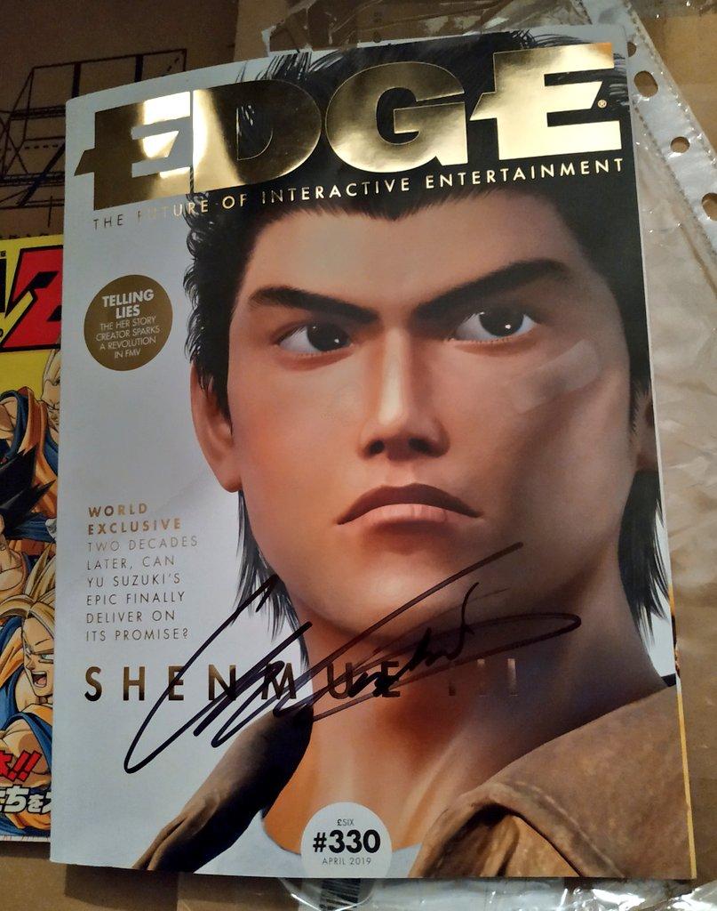 edge magazine revista 330 shenmue 3 april abril 2019 yu suzuki shenmue podcast castellano español podcstellano ryo suzuki alfonso andy kelly