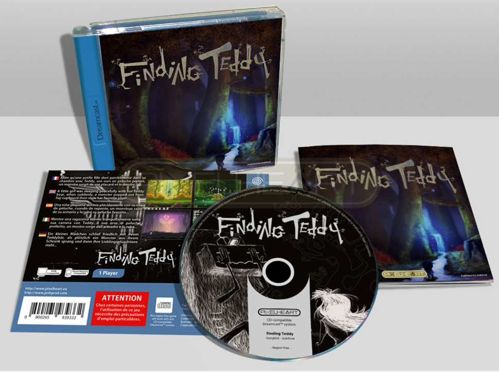 Finding Teddy Dreamcast homebrew game indie new release 2019 PixelHeart