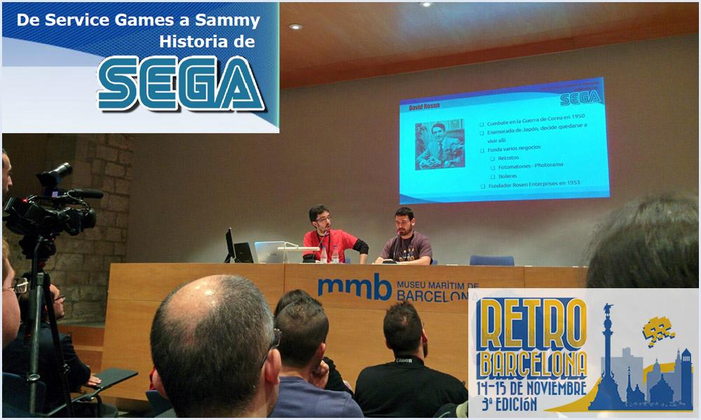 conferencia la historia de SEGA Retrobarcelona 2015 tercera edicion Marc Funs Alfonso Ryo Suzuki