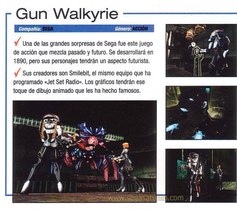 Gunvalkyrie Gun valkyrie valkirie dreamcast unreleased beta cancelado cancel smilebit