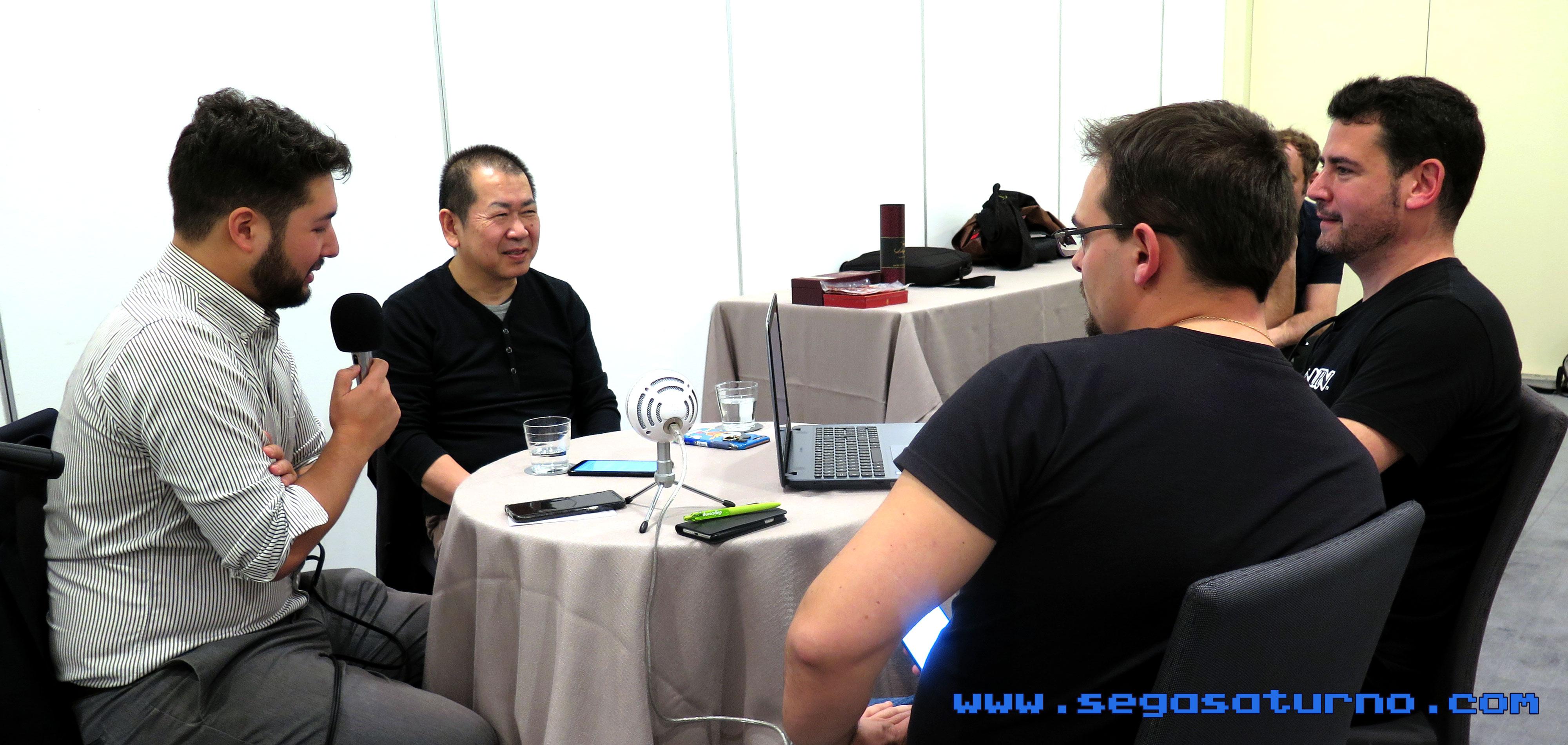Yu Suzuki Kenji Kojima interview entrevista 2019 Magic Monaco Shenmue III 3 Raúl Requejo Alfonso Martínez SEGASaturno Spain