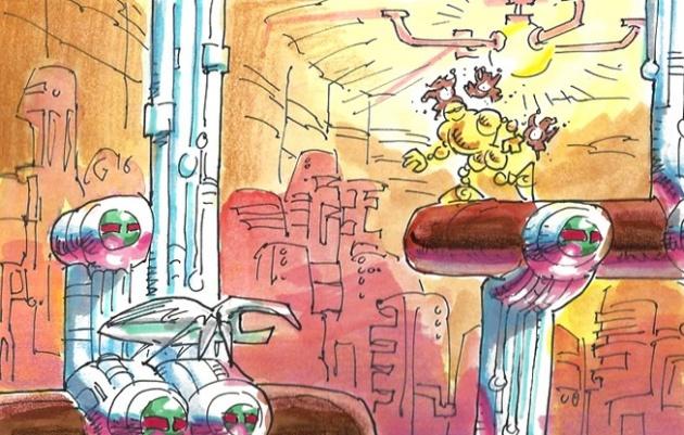 megadrive vectorman artwork sketch arte conceptual