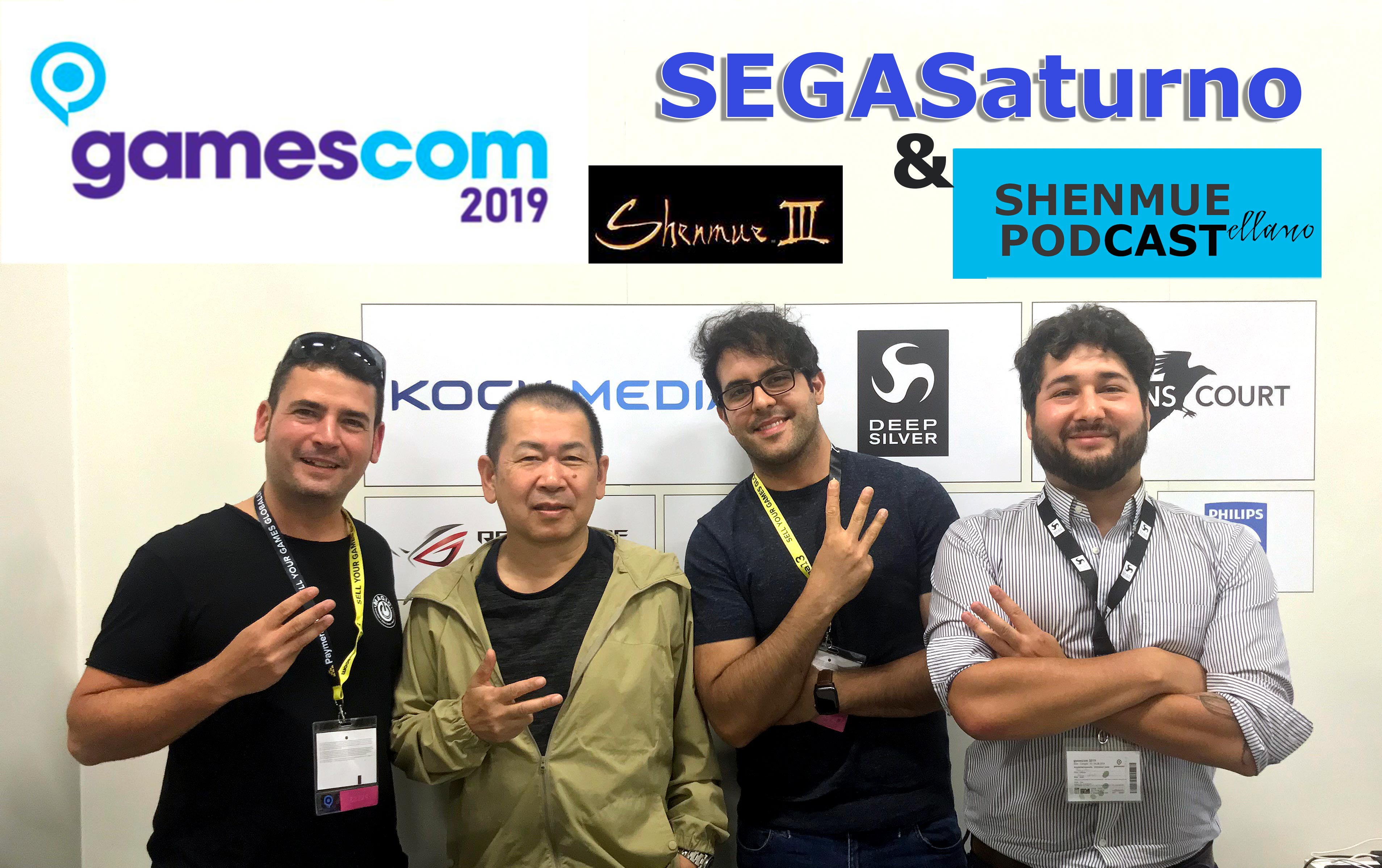 yu suzuki and kenji kojima alfonso martinez gerard ames deep silver booth 2019 entrevista interview