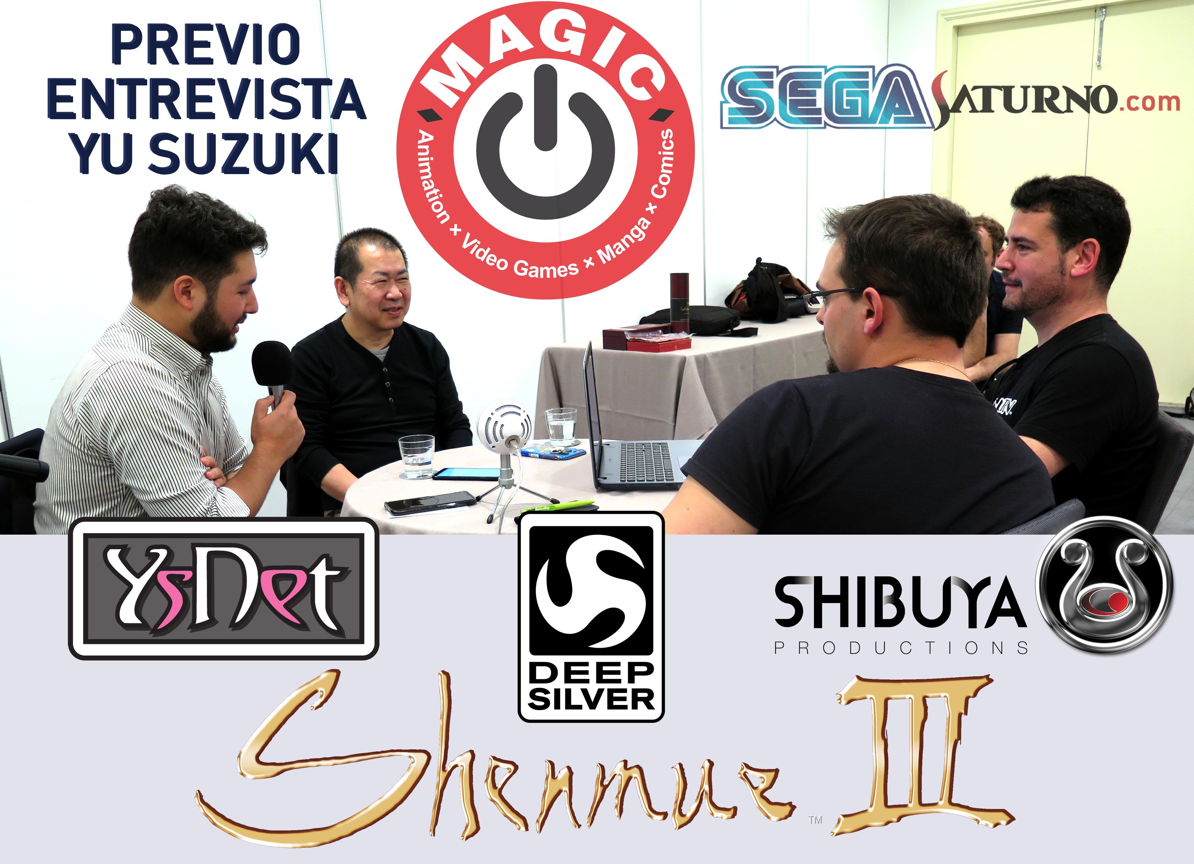 Yu Suzuki MAGIC MONACO 2019 Kenji entrevista interview Shenmue III 3 Raul Requejo Alfon Alfons Alfonso Martinez Gonzalez Agente Requejo Ryo Suzuki